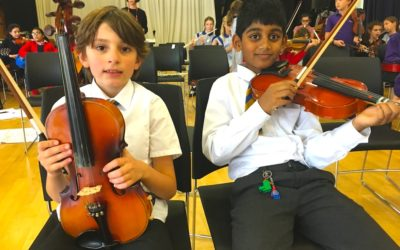The School Orchestra Performance